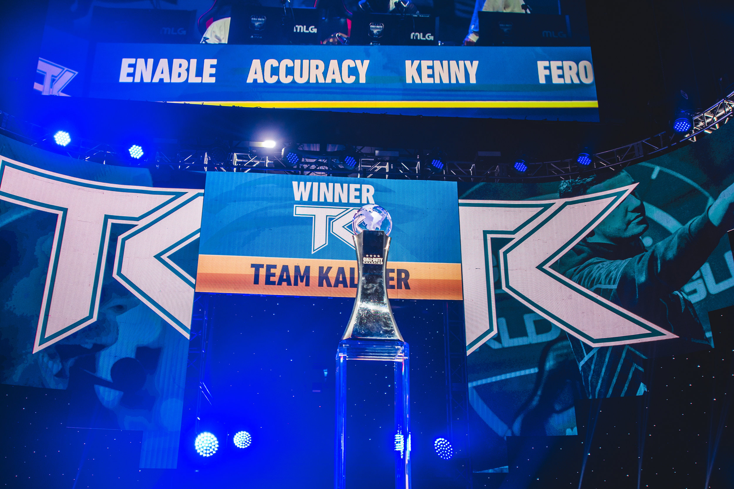 Team Kaliber winning decisive round, one step closer to the 2018 Call of Duty World League Championship trophy at Nationwide Arena on August 18, 2018 in Columbus, Ohio.  Photo by Eric Ananmalay / ESPAT Media
