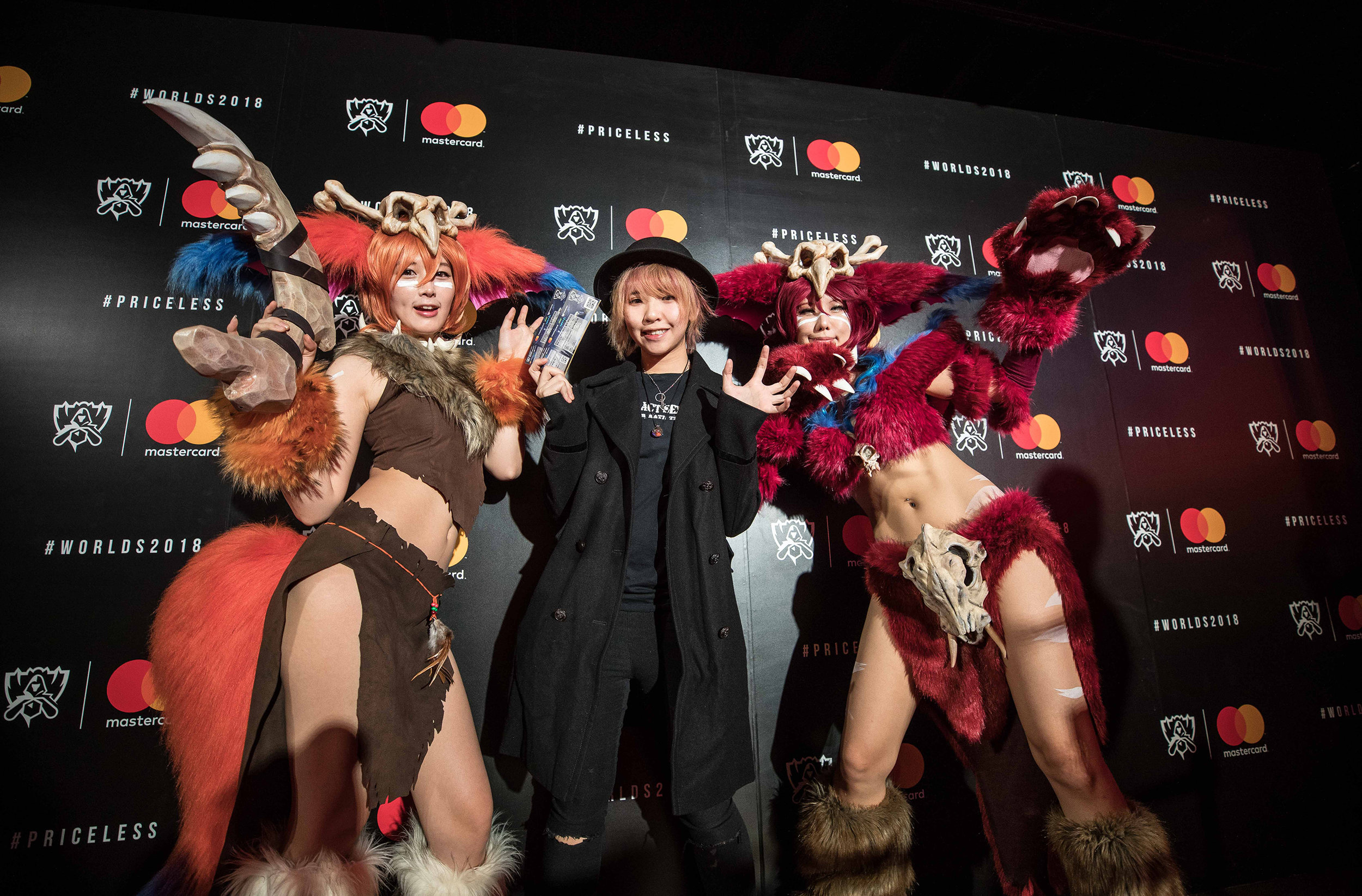 Cosplayers entertaining the fans at Mastercard Nexus, 2018 League of Legends World Championship on November 3, 2018 in Incheon, South Korea.  Photo by Hannah Smith / ESPAT Media for Mastercard