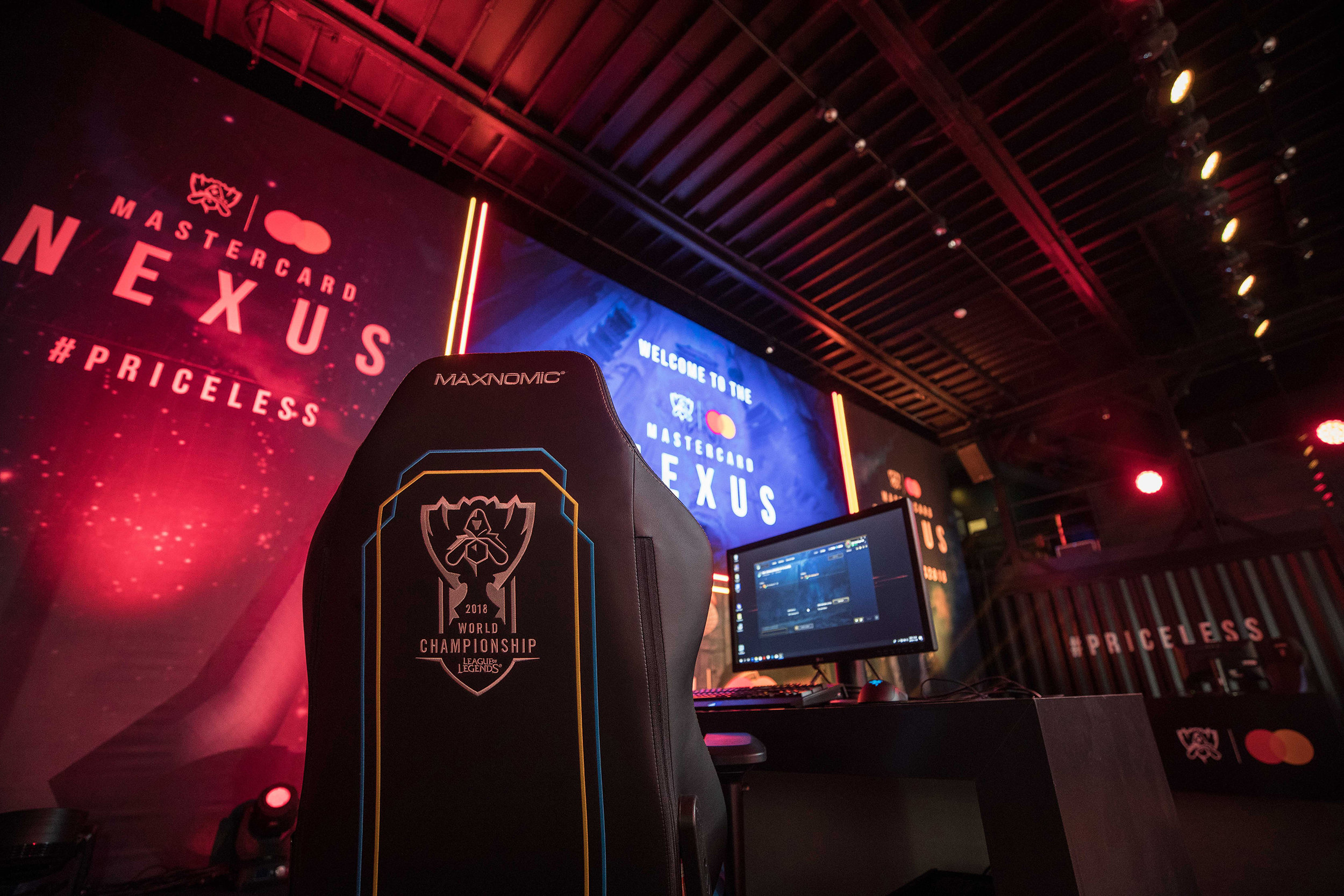 The stage before fan competition at Mastercard Nexus during the 2018 League of Legends World Championship on November 2, 2018 in Incheon, South Korea.  Photo by Hannah Smith/ESPAT Media for Mastercard