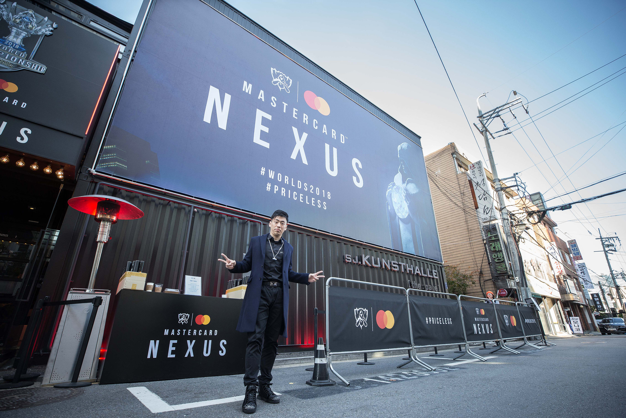 Gamer influencer at Mastercard Nexus during the 2018 League of Legends World Championship on November 2, 2018 in Incheon, South Korea.  Photo by Hannah Smith/ESPAT Media for Mastercard