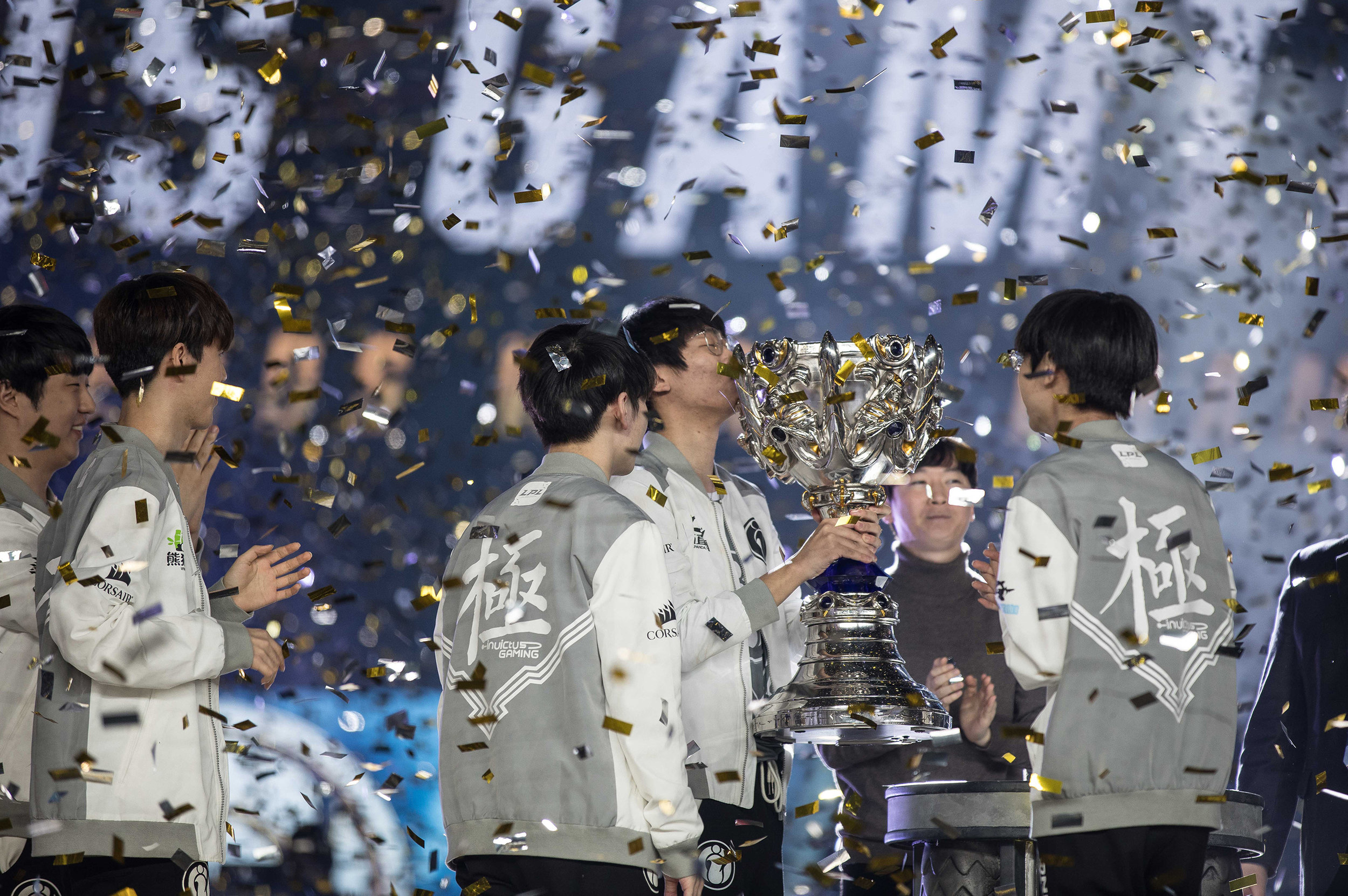 Invictus Gaming wins the 2018 League of Legends World Championship sponsored by Mastercard on November 3, 2018 in Incheon, South Korea.  Photo by Hannah Smith/ESPAT Media for Mastercard