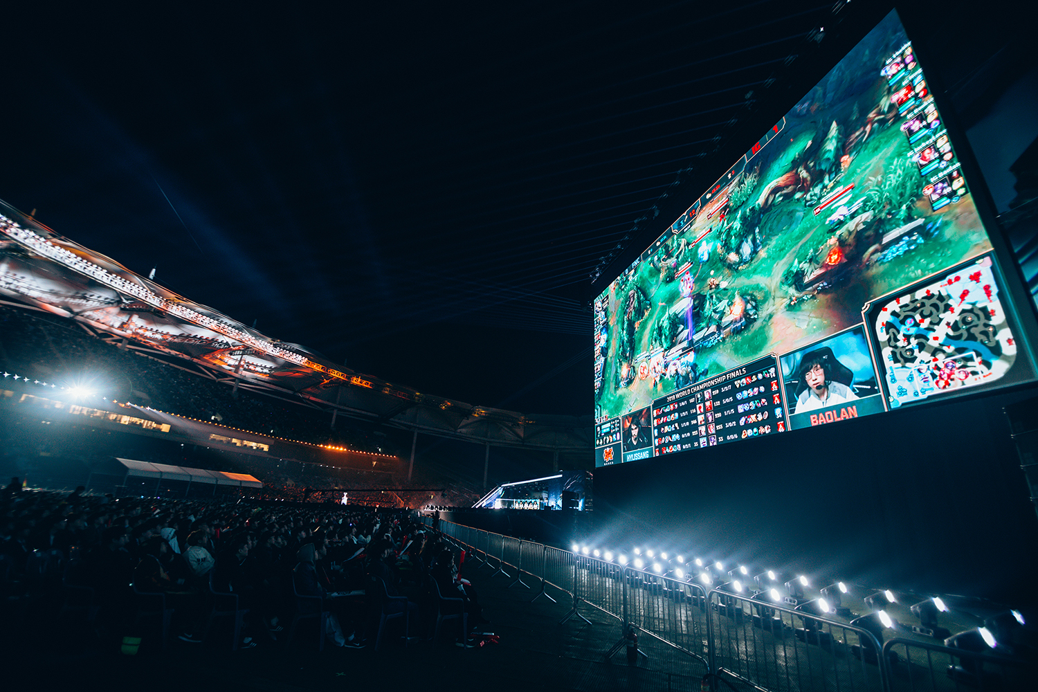 League of Legends fans watching big screen at 2018 League of Legends World Championship Finals sponsored by Mastercard on November 3, 2018 in Incheon, South Korea. Photo by Hannah Smith/ESPAT Media for Mastercard