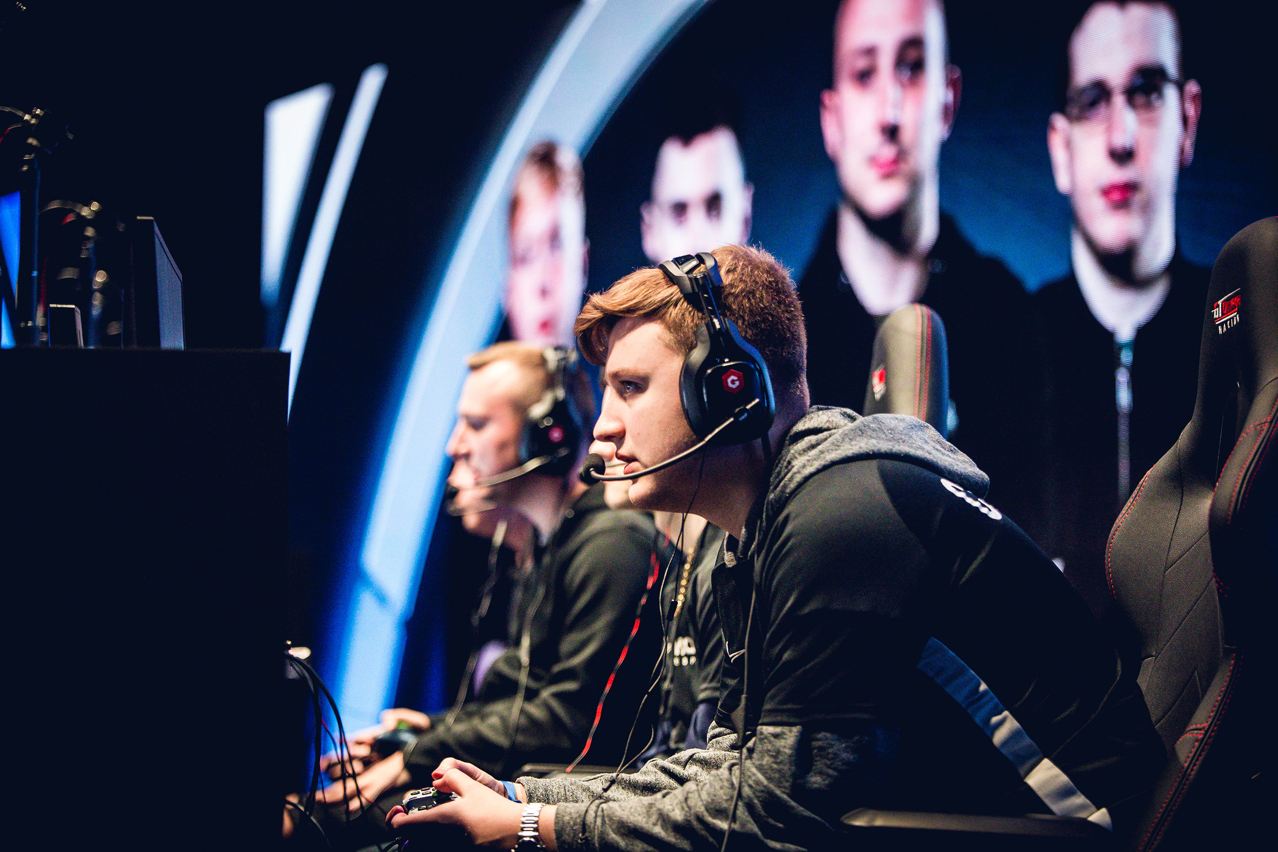 LONDON, ENGLAND - May 5, 2019: Esports professional gamers onstage at Copper Box Arena on May 3, 2019 in London, England. (Photo by Joao Ferreira/ESPAT Media)