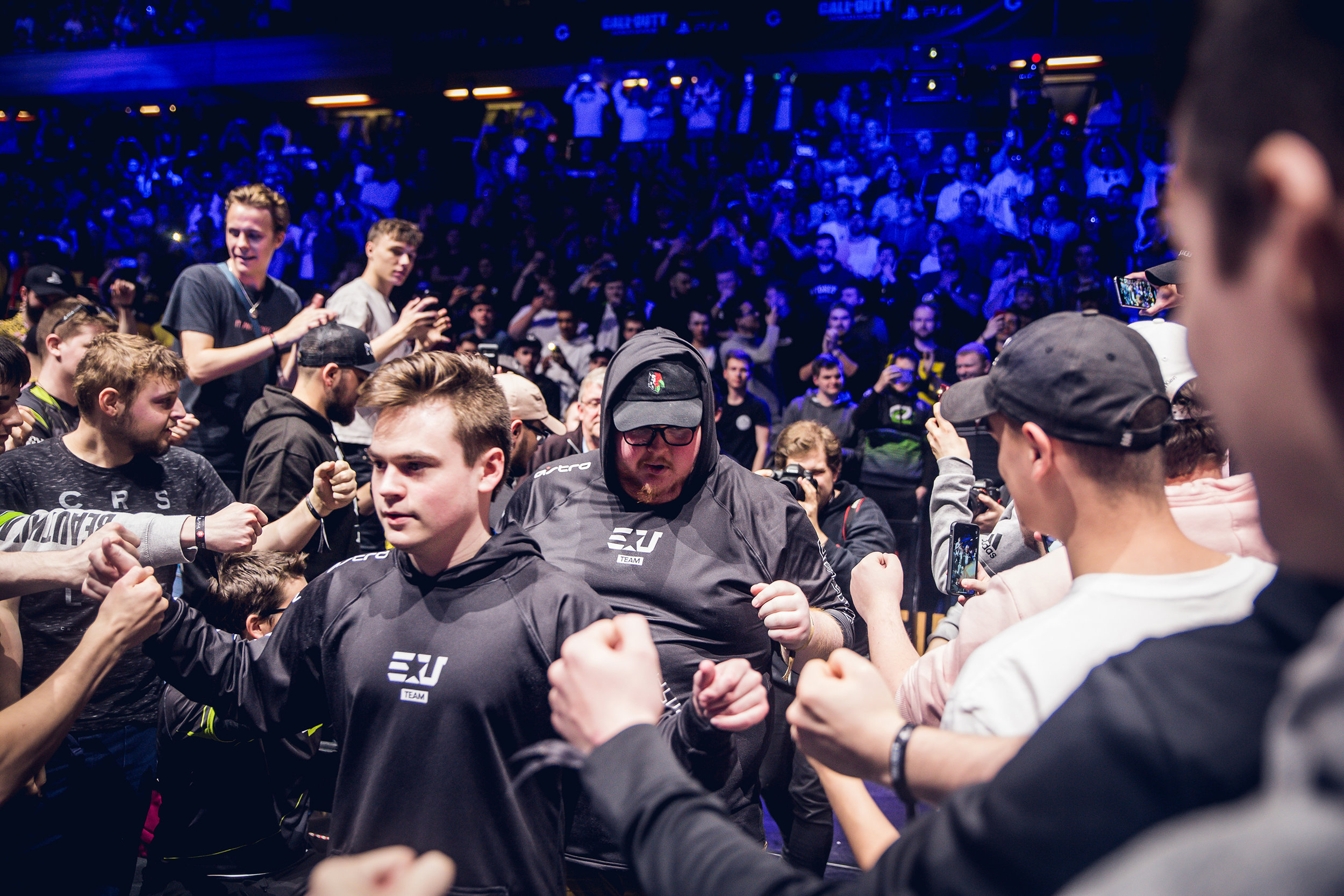 LONDON, ENGLAND - May 5, 2019: eUnited headed on stage for CWL final against 100 Thieves at Copper Box Arena on May 3, 2019 in London, England. (Photo by Joao Ferreira/ESPAT Media)