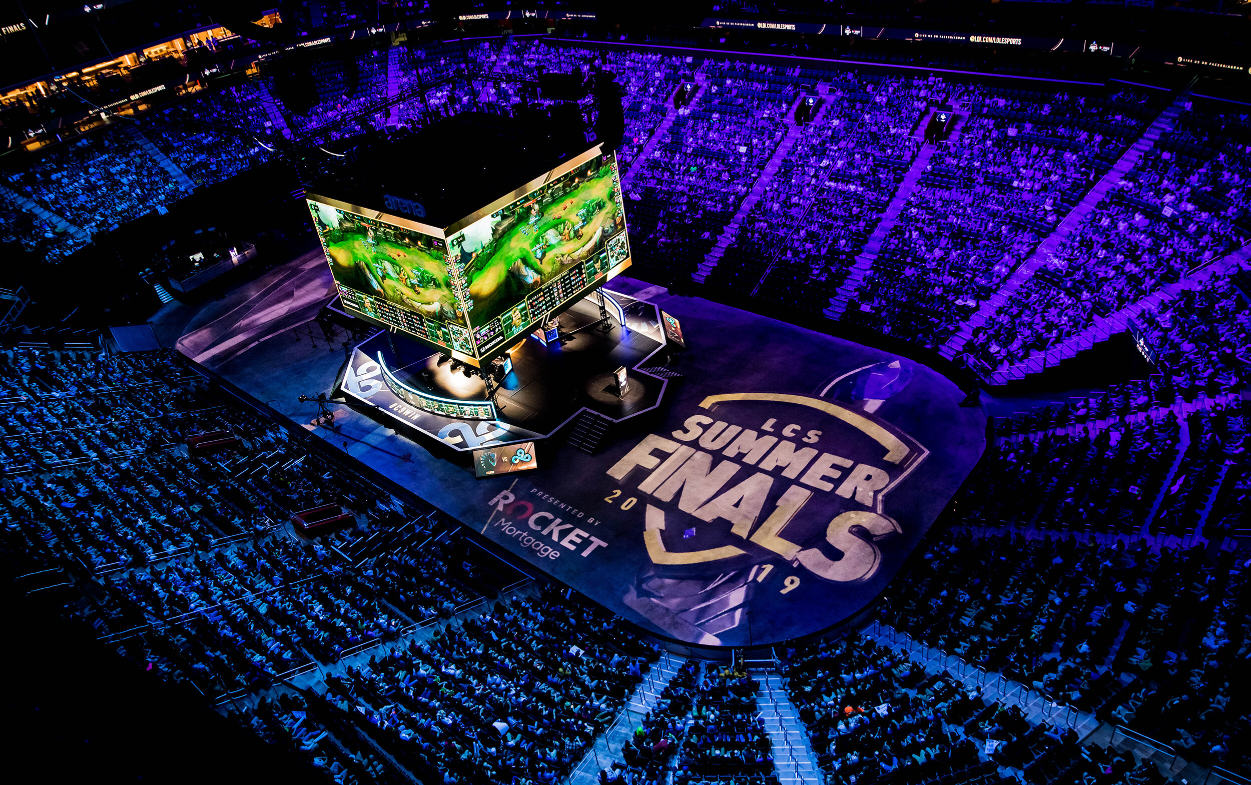 2019 LCS Summer Finals   DETROIT, MI - AUGUST 25: Final match Cloud9 vs Team Liquid onstage at League of Legends Championship Series (LCS) Summer Finals presented by Rocket Mortgage at Little Caesars Arena on August 25, 2019 in Detroit, Michigan. ( Photo by Kyle Miller/ESPAT Media)