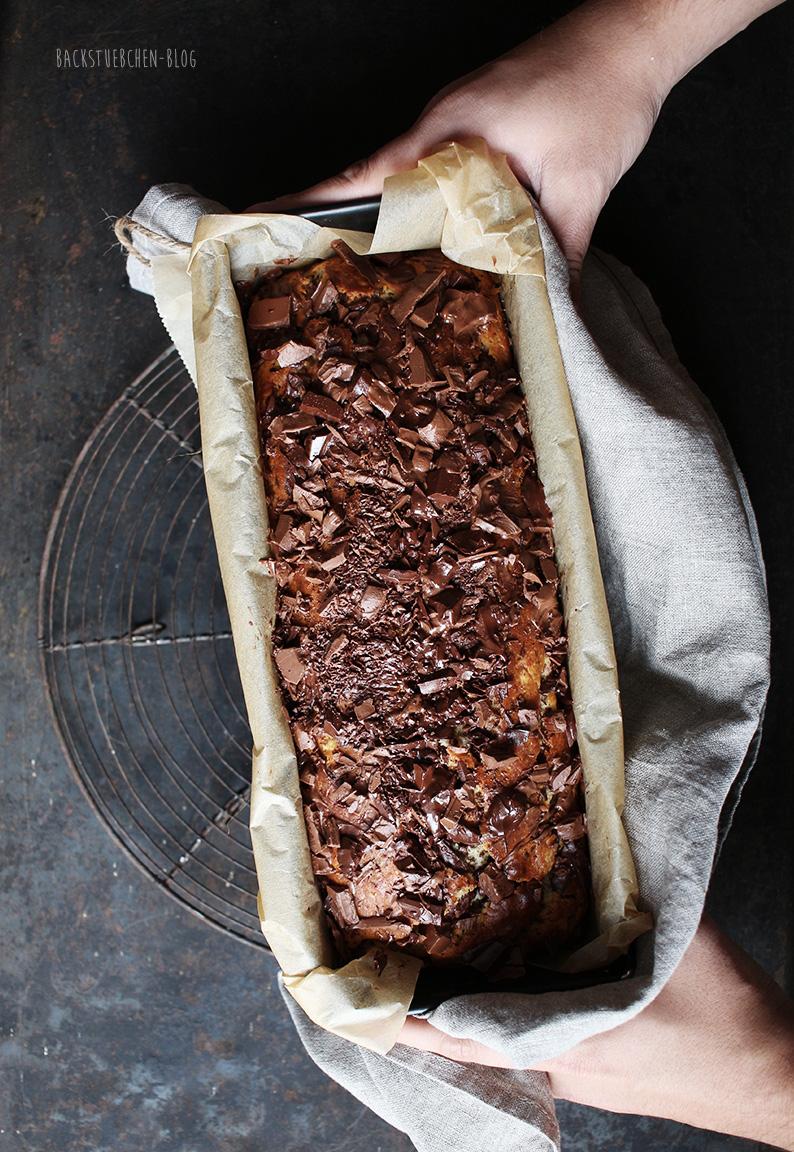 Bananen-Schoko-Kuchen mit Ricotta ist einfach und schnell zubereitet