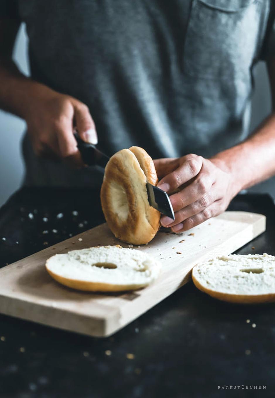 bagels schneiden