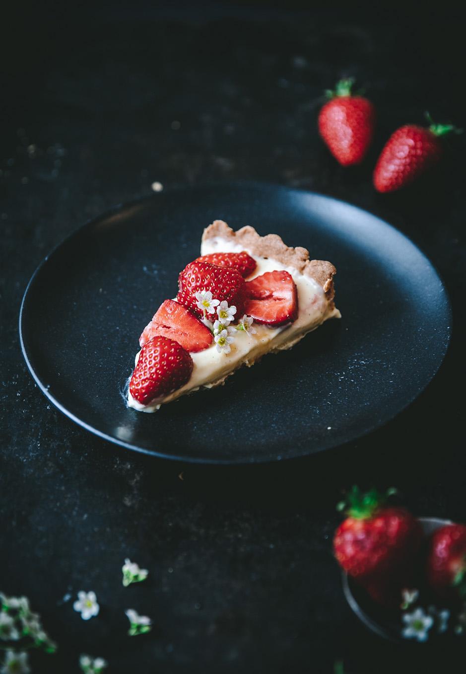 So lecker: Erdbeer-Tarte mit Vanillepudding-Füllung.