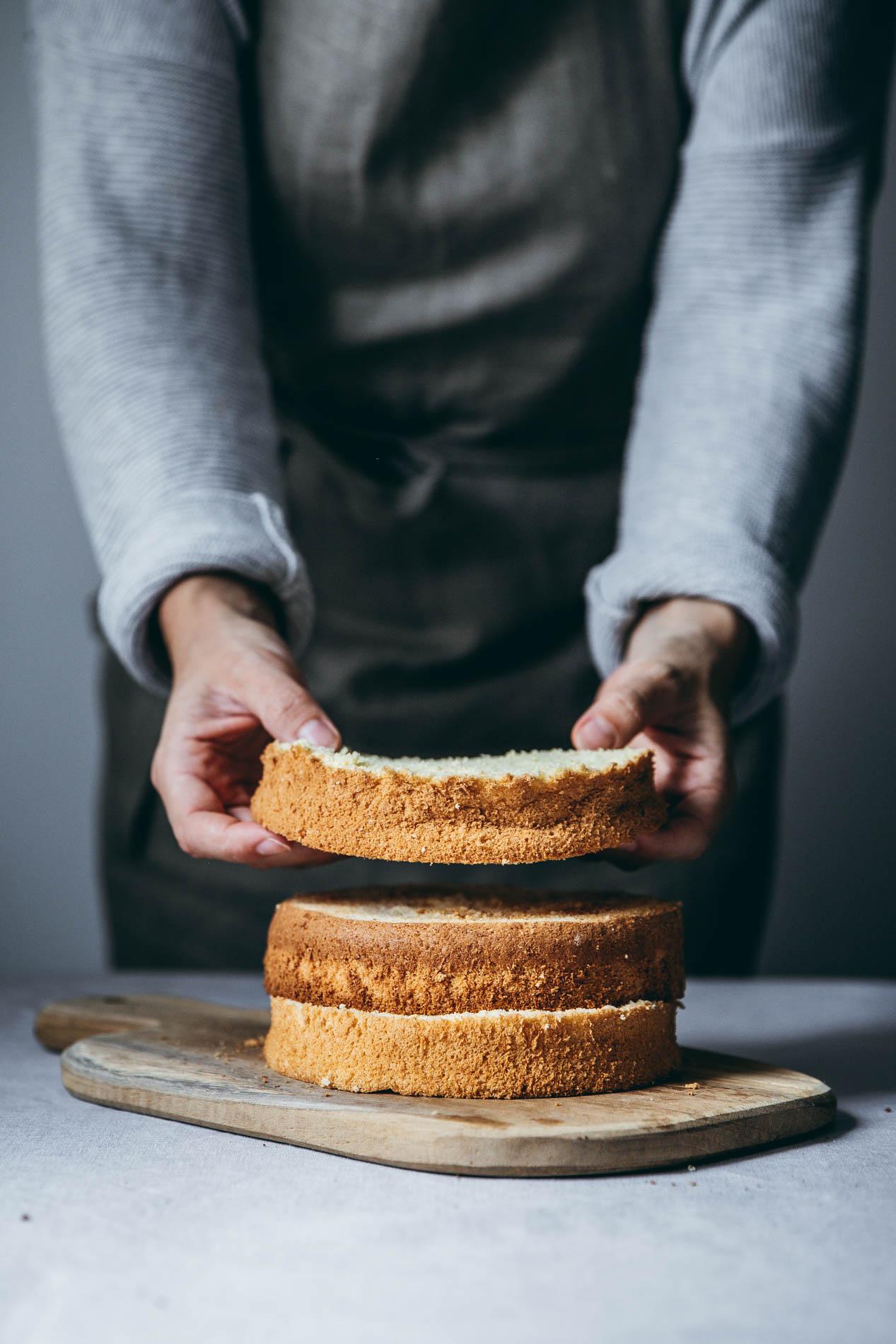 Biskuit eignet sich ideal für Torten fim Sommer.