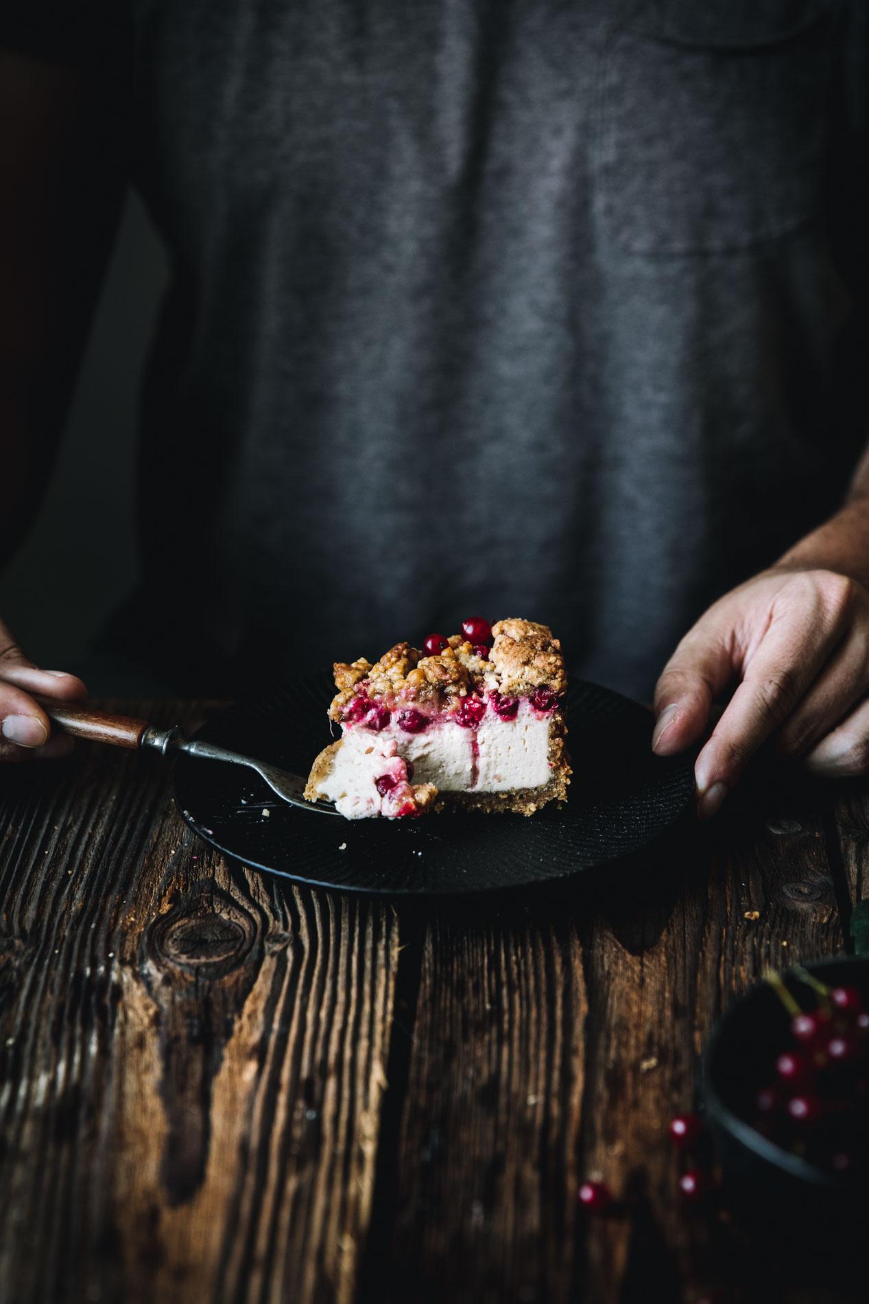 Ein Rezept aus meiner Kindheit: Johannisbeer-Käsekuchen mit Streuseln