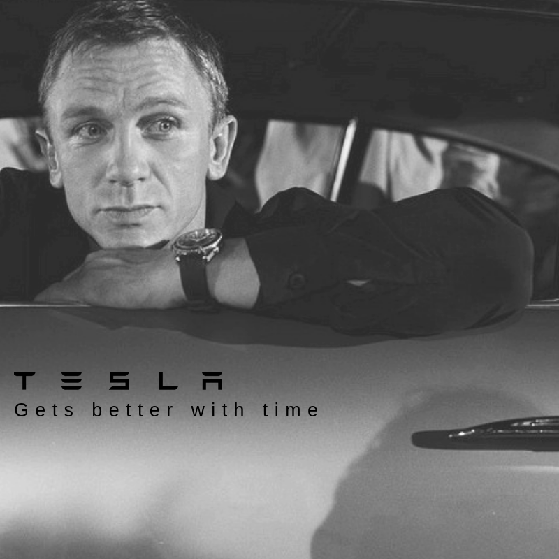 So then I thought I would make my own Pre-Owned ad for Tesla. What do you think? -