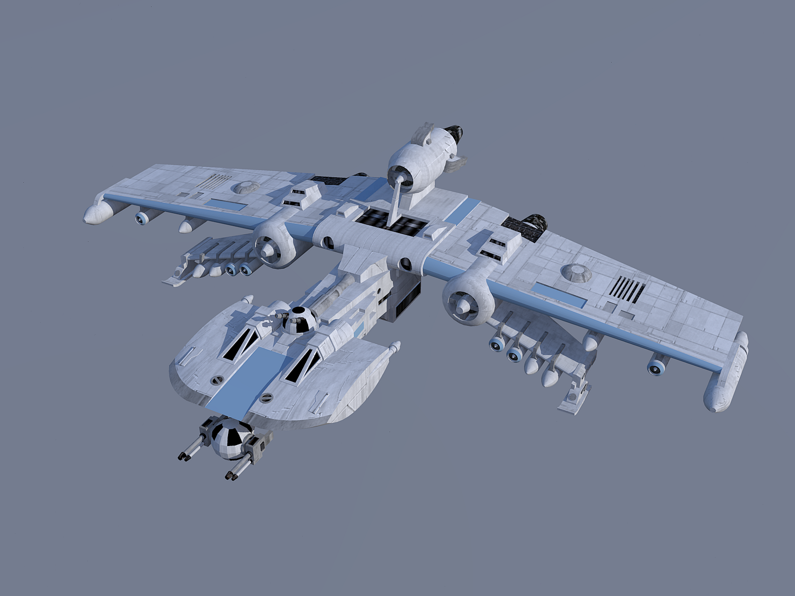 K-wing model and render