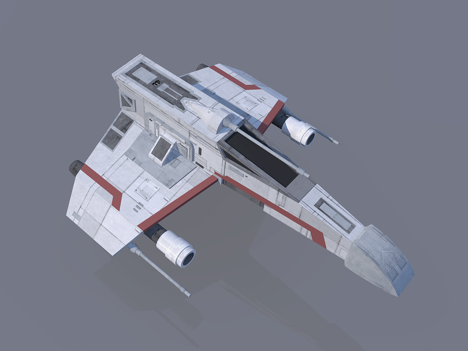 E-wing model and render