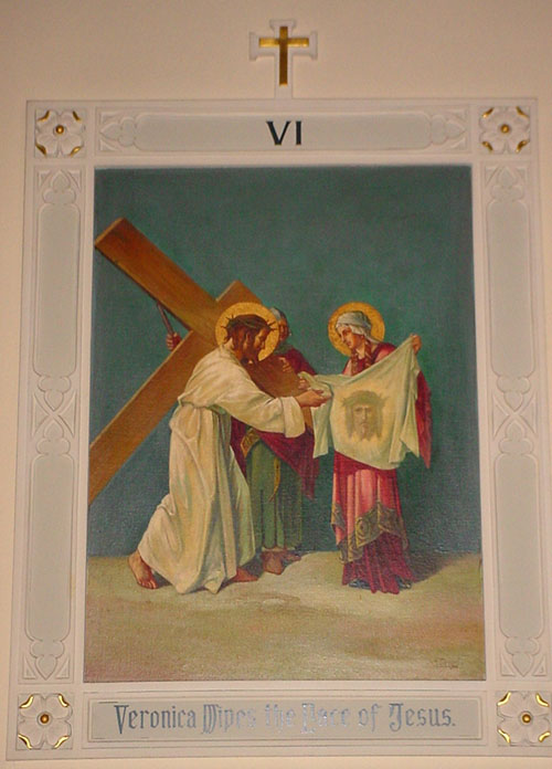 Stations of the Cross: VI Veronica wipes the face of Jesus