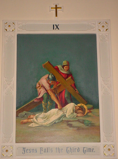 Stations of the Cross: IX Jesus falls for the third time
