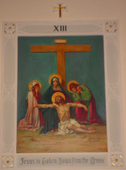 Stations of the Cross: XIII Jesus is taken down from the cross