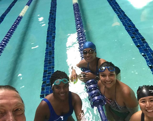 Early morning Swim for Fitness group,Yes, I am a spoiled swim coach-❤️ my job.