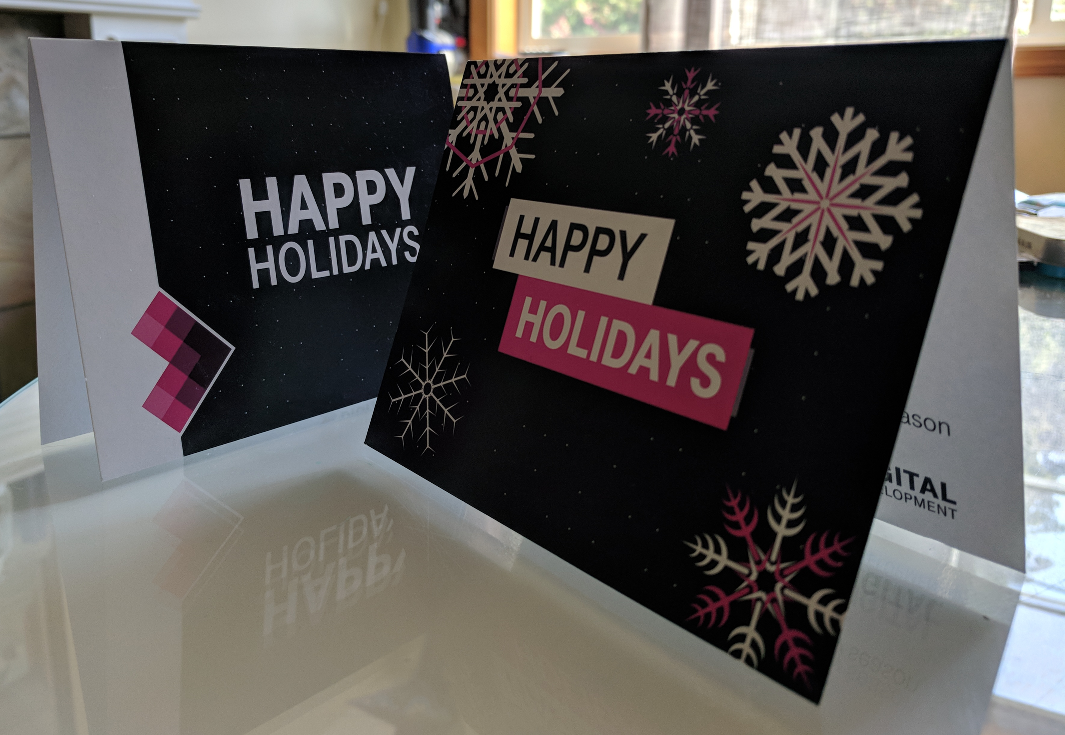 Cards were printed to 5'x7' standard size.