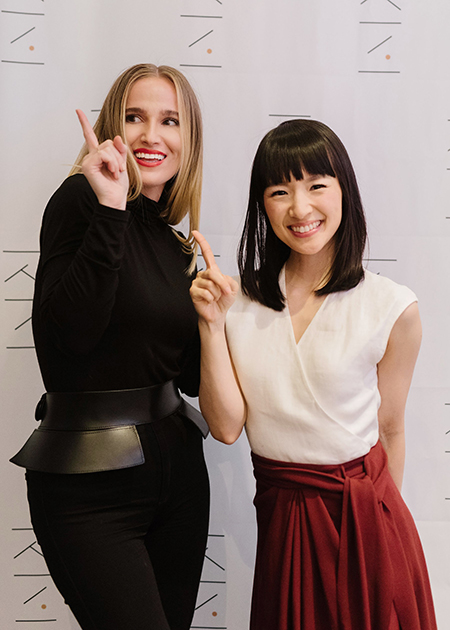 Jessica with Marie Kondo in New York, 2019