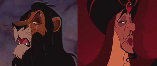 I like how Scar and Jafar even look quite a bit like each other DESPITE the fact that one's a lion and the other is human