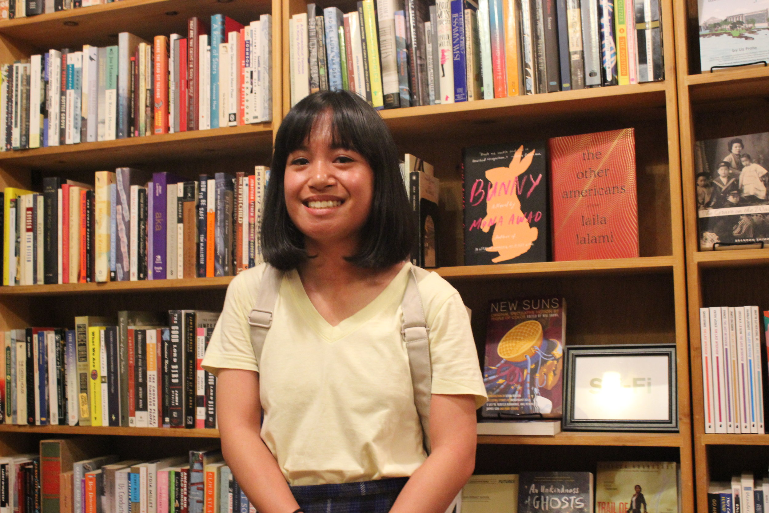 Geraldine Jorge reads Poetry at Wolfman books on August 14th 2019 in a reading Hosted by Sophia Dahin