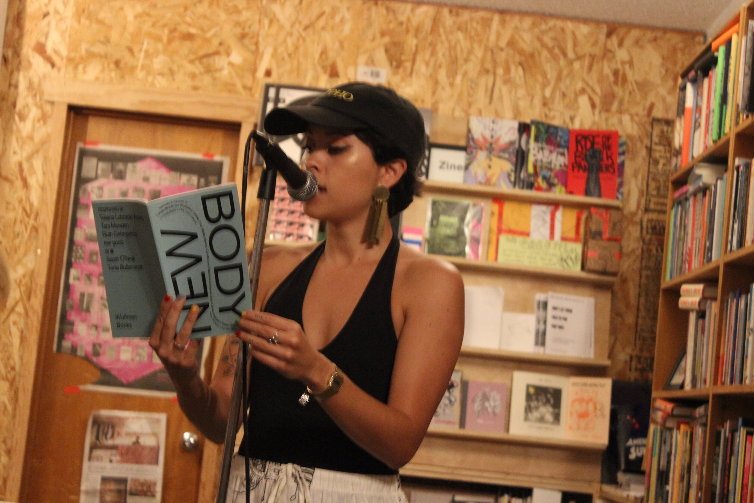 Tara Marsden REads at Wolfman Books In Downtown Oakland on September 13 2019