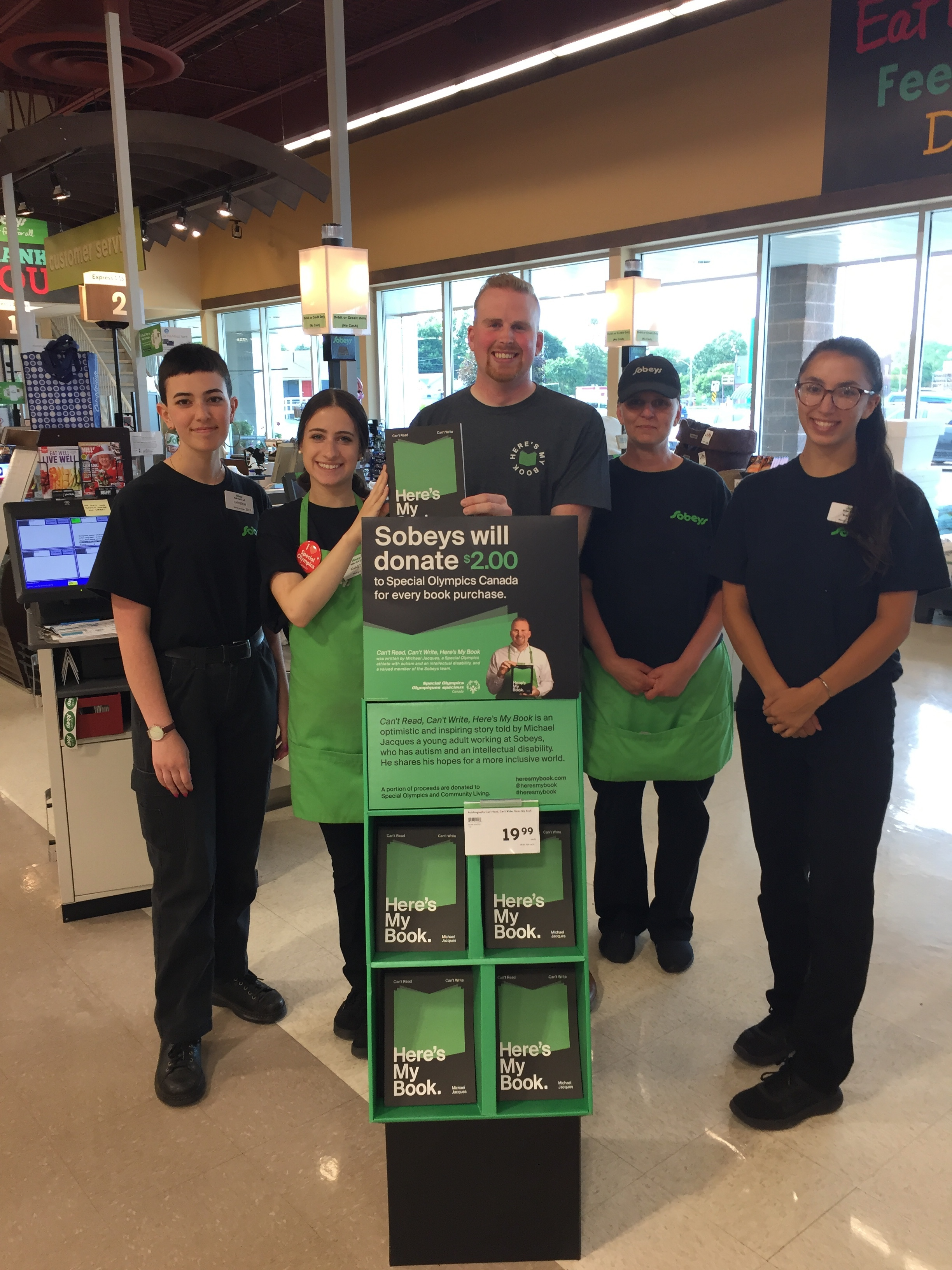 Day 1 – Sobeys Fonthill. Great to start the tour with my Sobeys family in my home town.