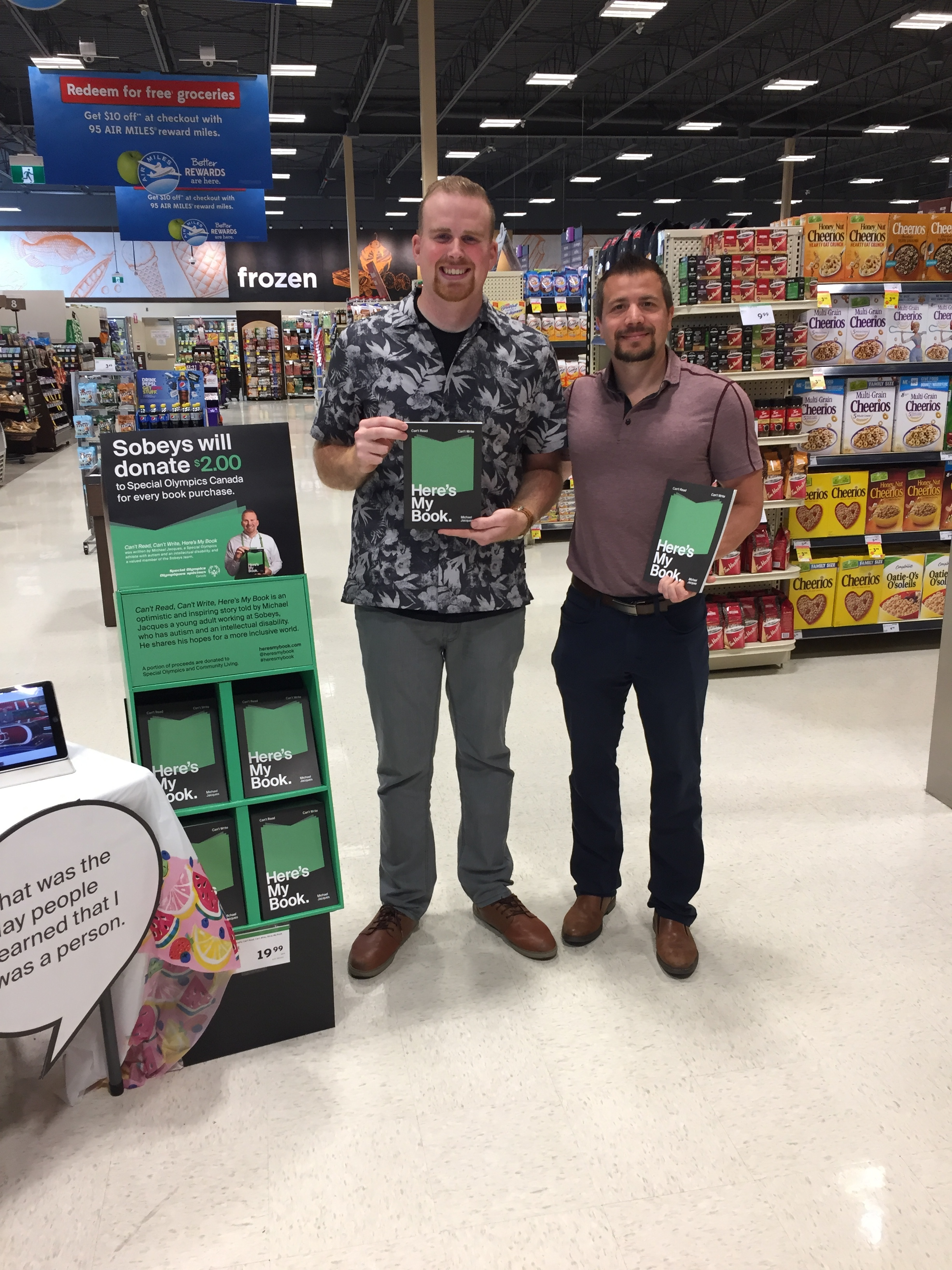 Day 2 – started the morning at the Sobeys in Stoney Creek, also got to see my cousin Paul.