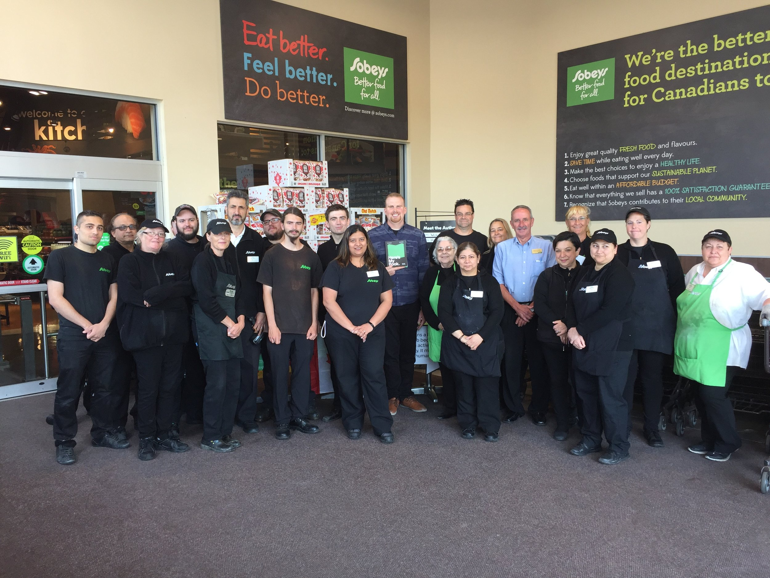 Day 3 – the awesome Sobeys team in Milton.