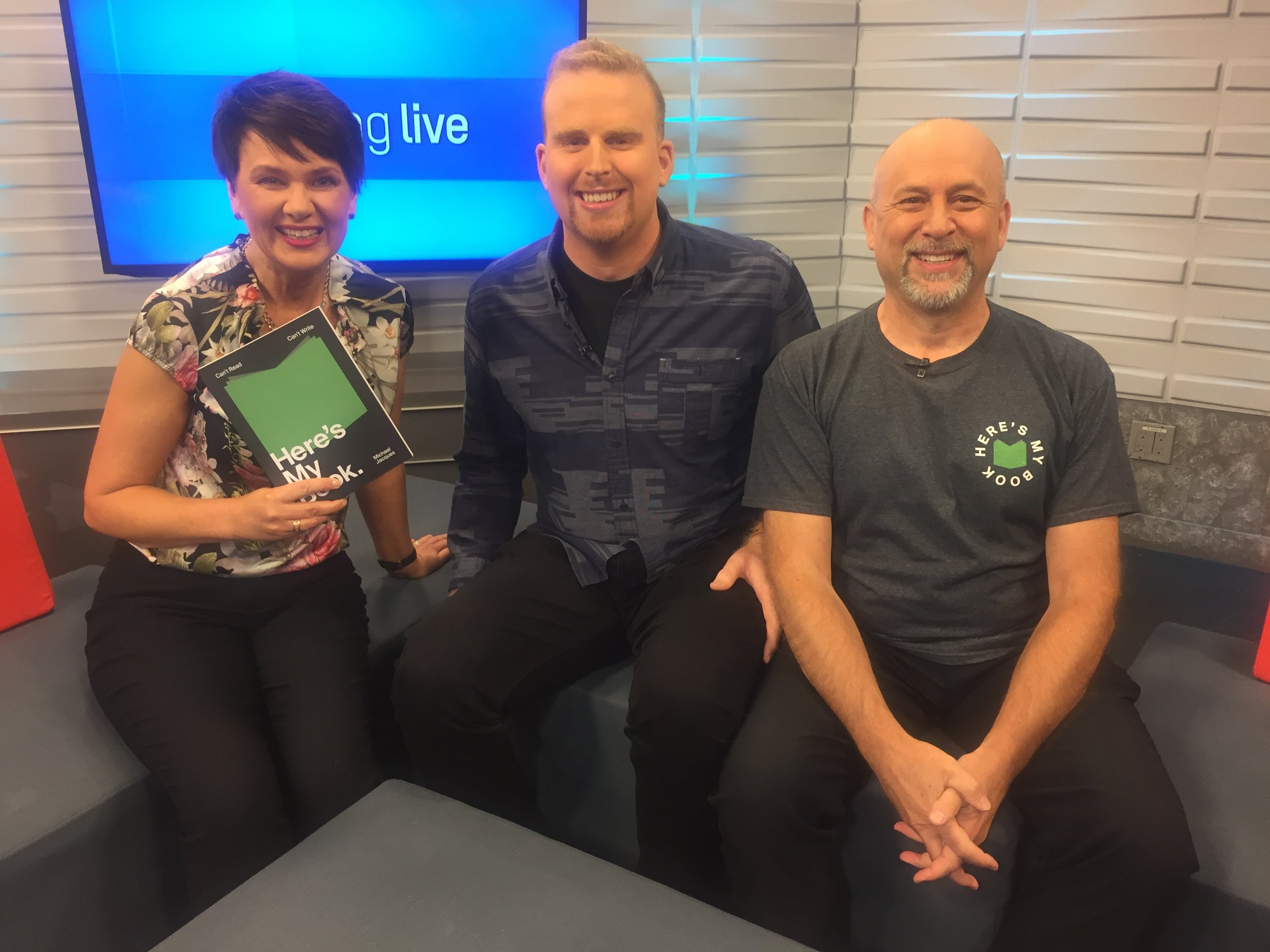 Day 3 – early morning on CHCH promoting the Sobeys Book Tour. Thanks Annette for having me again.