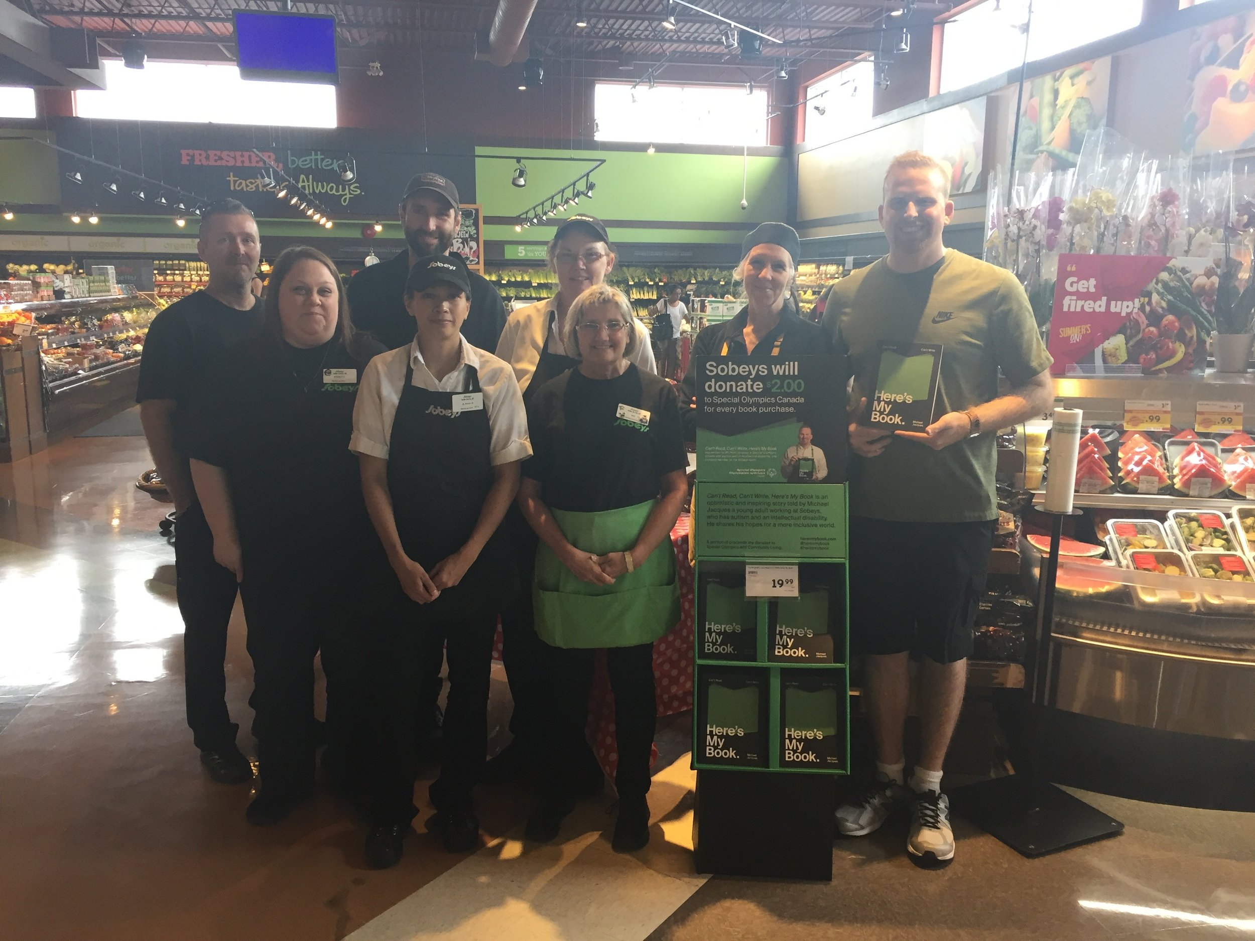 Day 5 – I added a couple extra stores close to home. Meet the Sobeys team at Scott & Niagara street in St. Catharines.