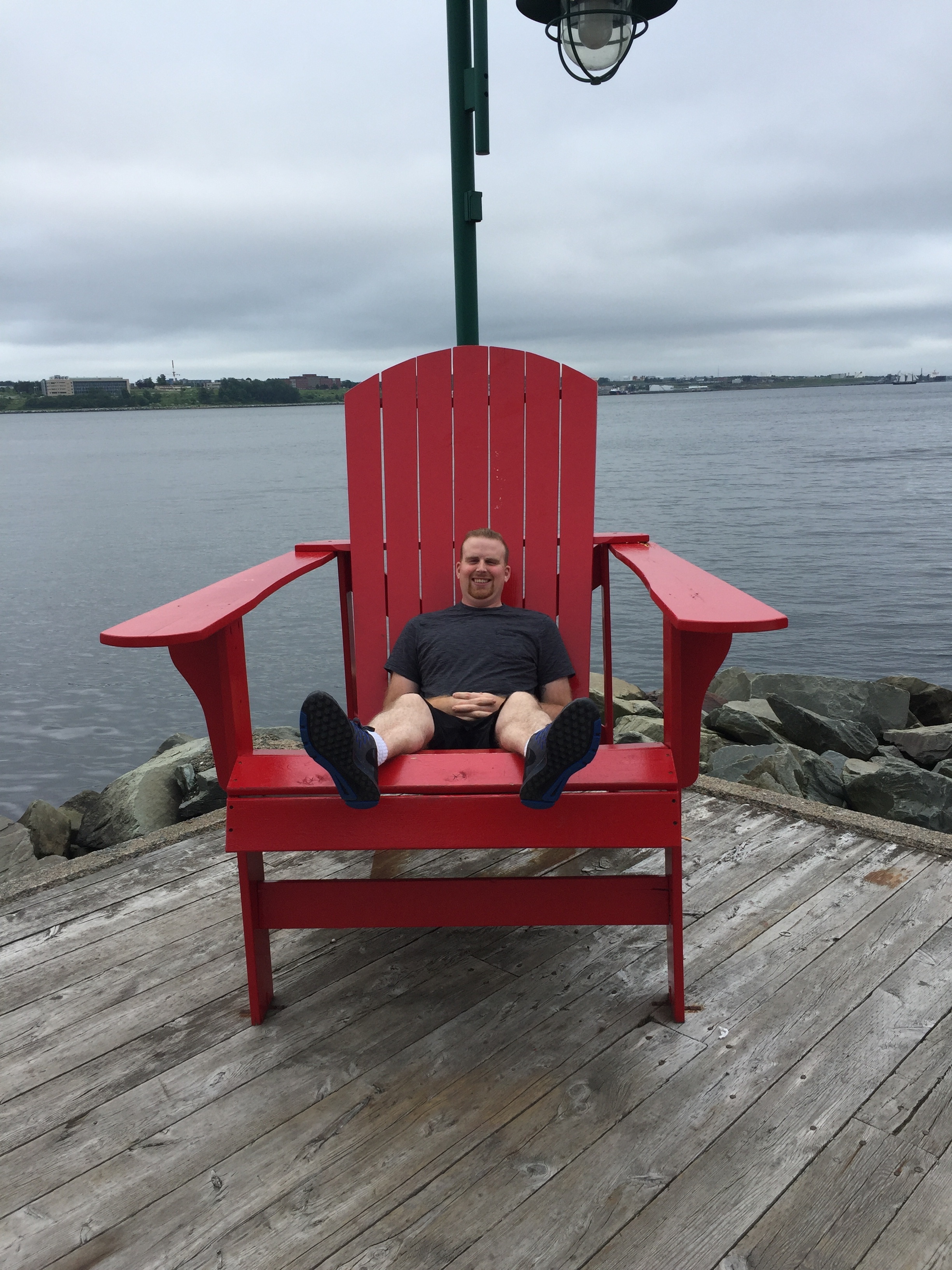 Arrived to Halifax. Found the perfect chair for me to rest in before the big week.