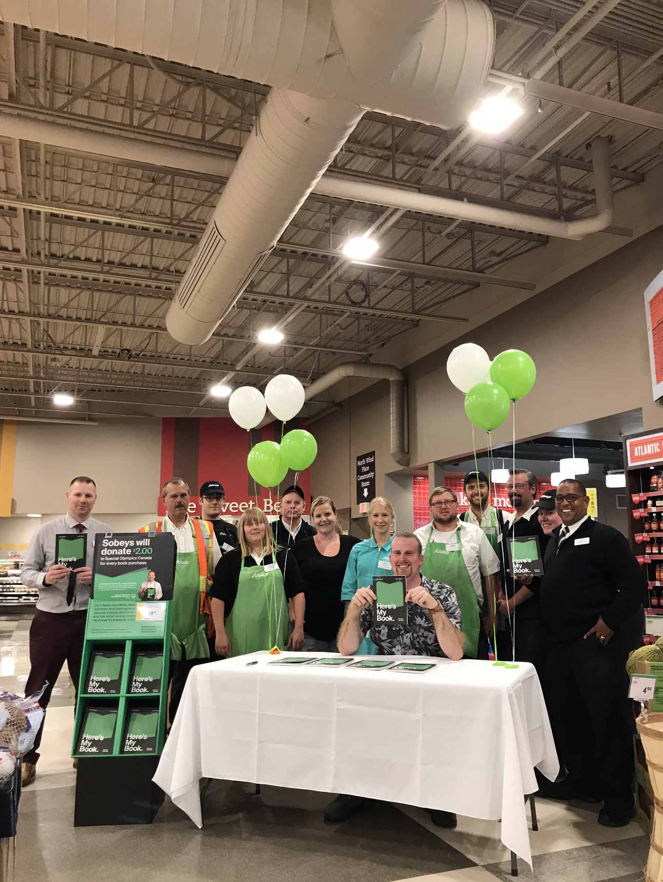 Day 1 – North & Windsor Sobeys. You can't miss me, I'm by the balloons!
