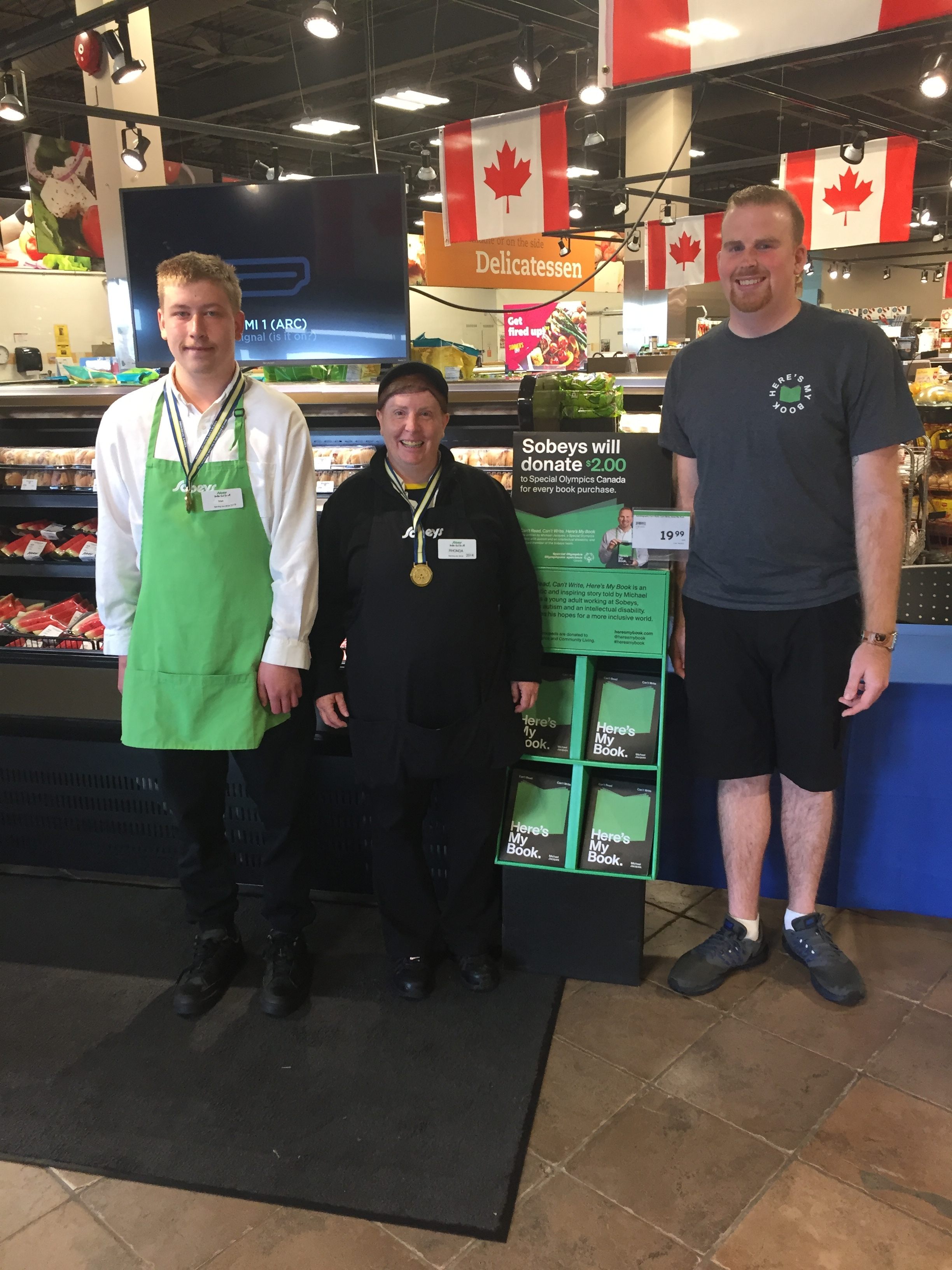 Day 3 – great to meet fellow Special Olympic athletes at the Cole Harbour Sobeys!