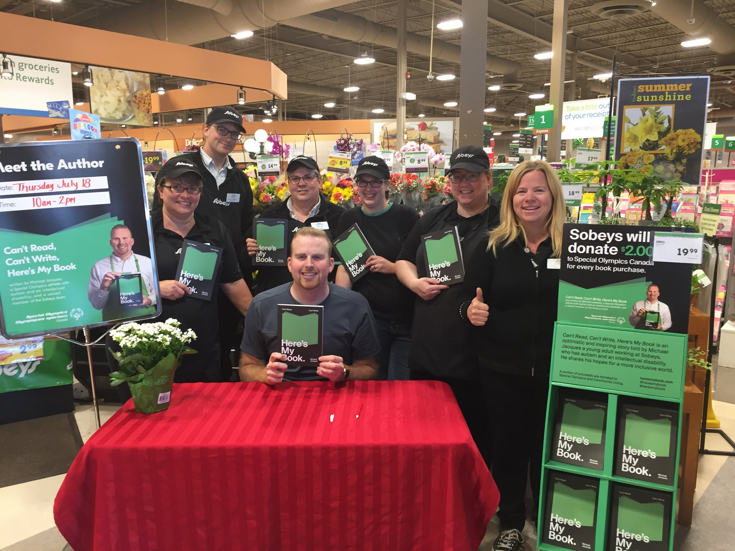 Day 4 – my last stop Elmsdale Sobeys. Welcomed by another awesome team.