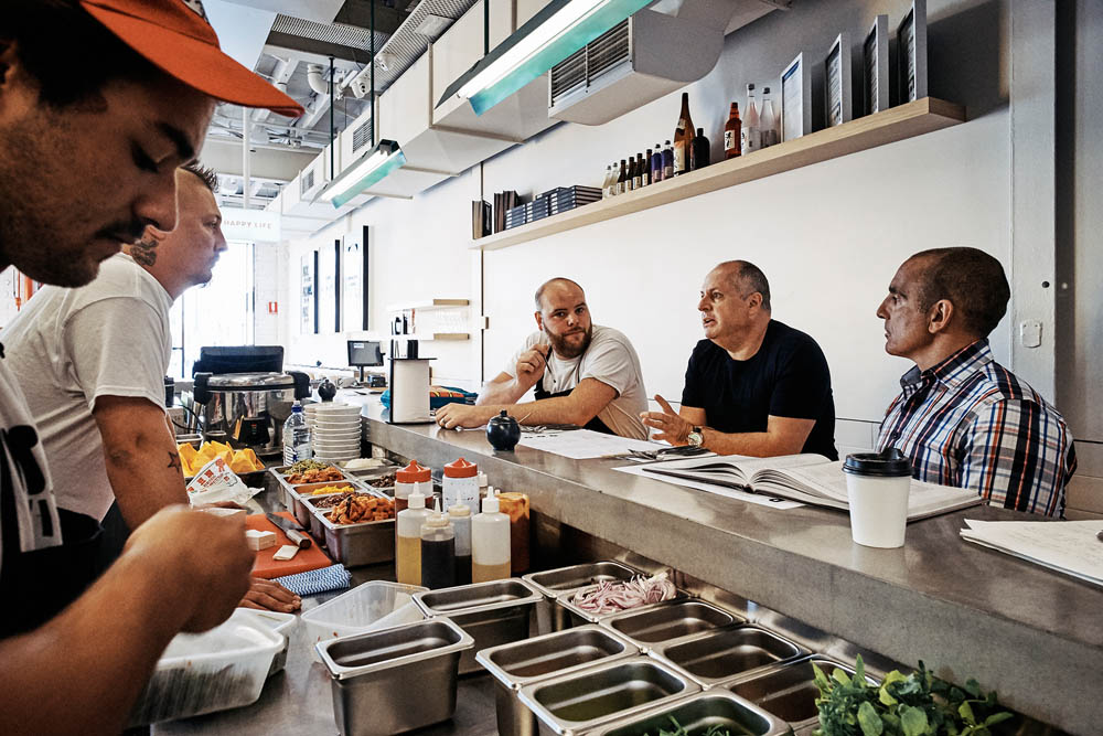 Daily Meetings with the chefs and executive team. Image credit: Broadsheet