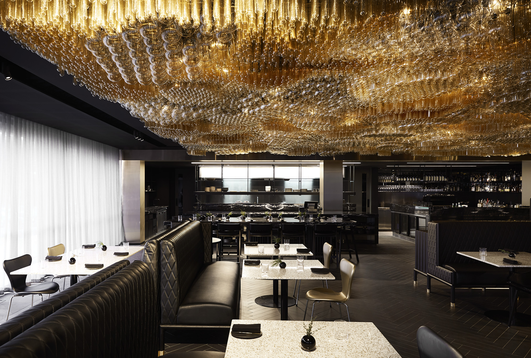 Jackalope Hotel dining experience will blow your taste buds. Doot Doot Doot restaurant designed by the Carr Design Group.