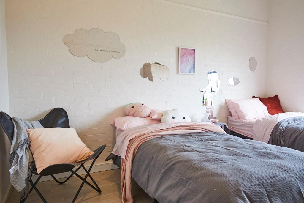 Warm and newly designed rooms at Casa Elda Vacarri.