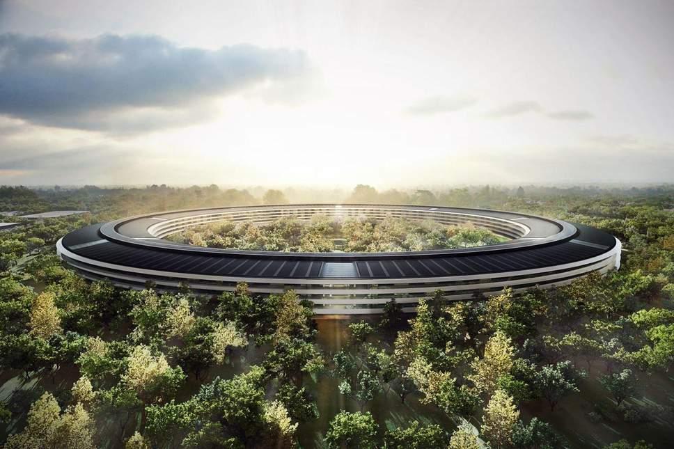 Apple headquarters at Cupertino in Silicon Valley, California.