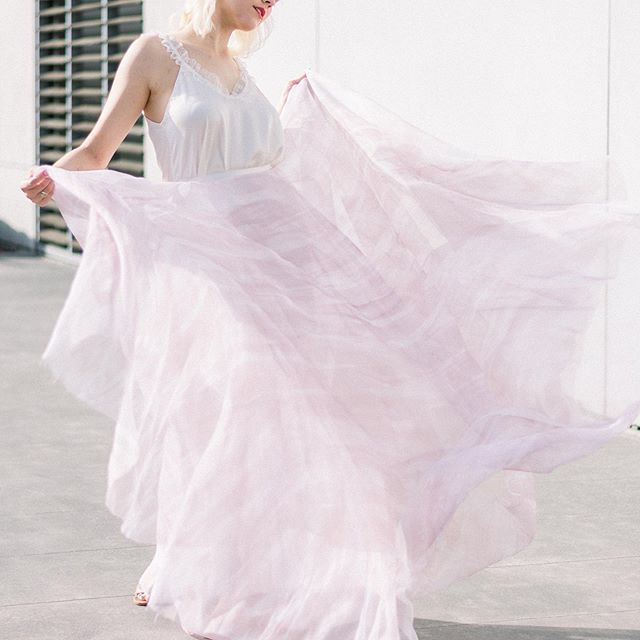 Her aura is made of Poetry and Roses and Galaxies ✨ . Ayla Skirt & Nova Tank by @incandescent_bridal Photographer: @kelseyhalmphoto Model: @olivebarrett Hair: @briannabadams Location: @scadmoa