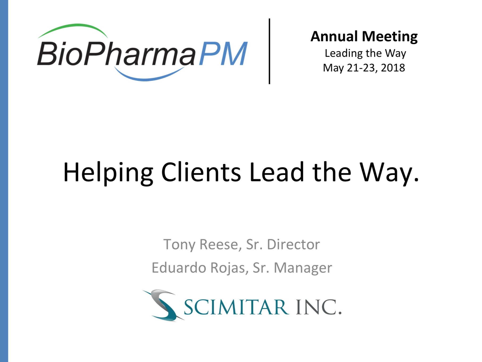 Tony Reese and Eduardo Rojas   Scimitar, Inc.
