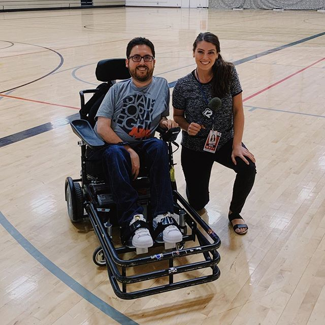 We really appreciate @12newsaz's @chierstinsusel stopping by practice last night to help spread the word about power soccer! You can check out her story on the Phoenix Rising Soccer Sunday Show on 12 News on May 12! #wheelchair #soccer #disability #sports #adaptivesports