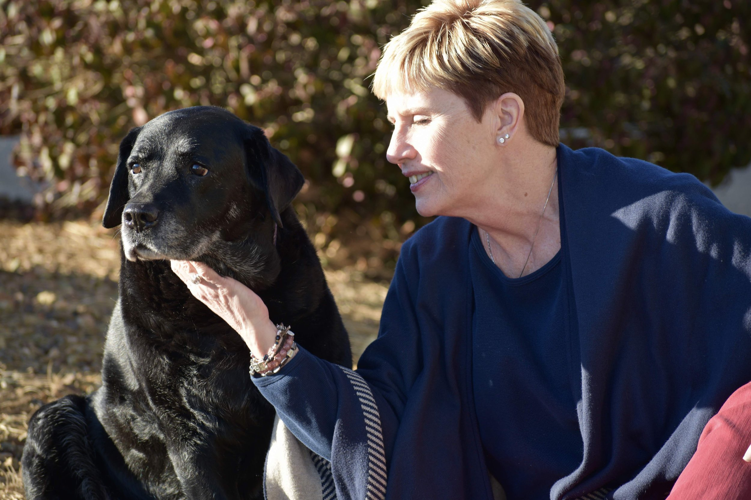 Owner Pam Sculthorp and her dog and best friend Dakota