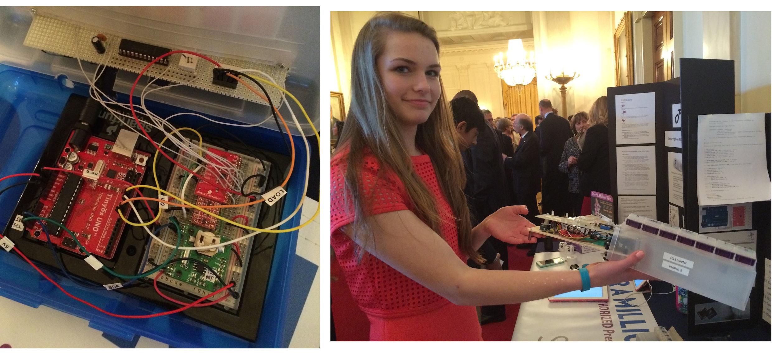 Lilianna Zyszkowski exhibits her PillMinder prototypes
