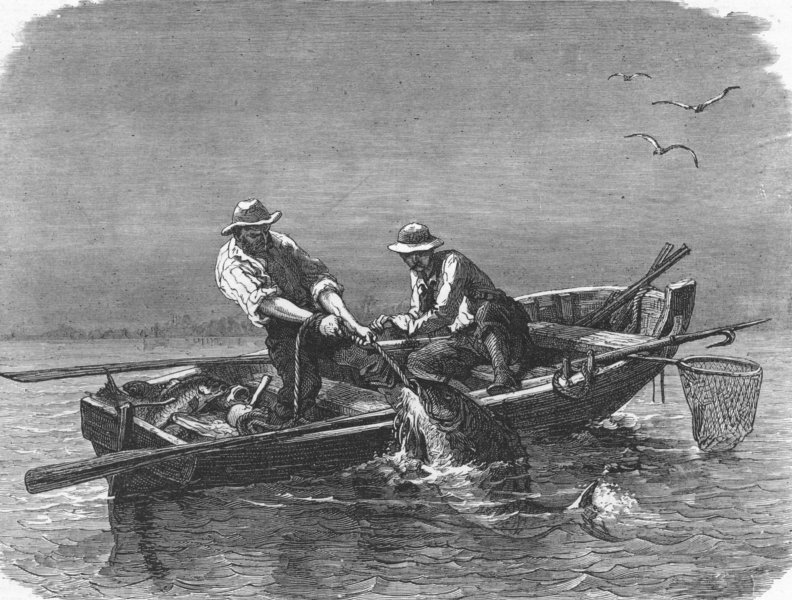 Fishing the Gulf Waters 1880's