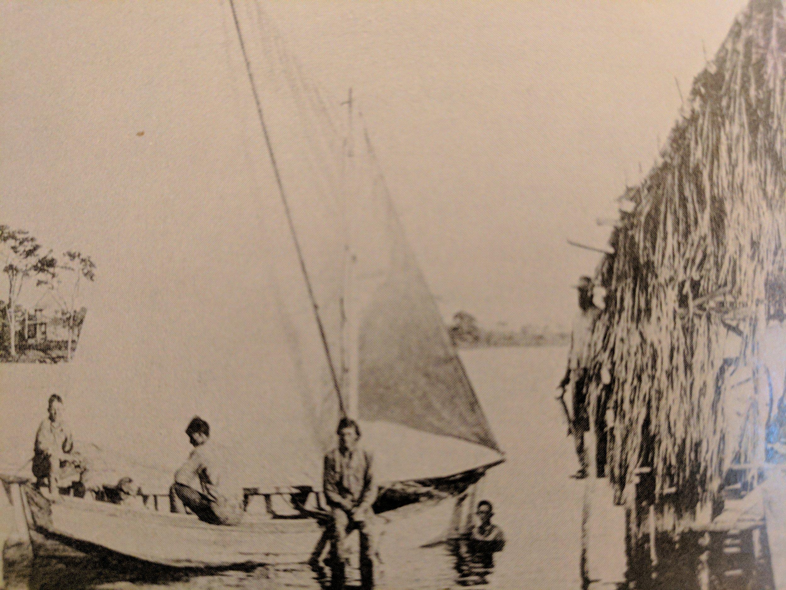 Mrs. Harris with the Blackburn boys. 1908, Blackburn Bay