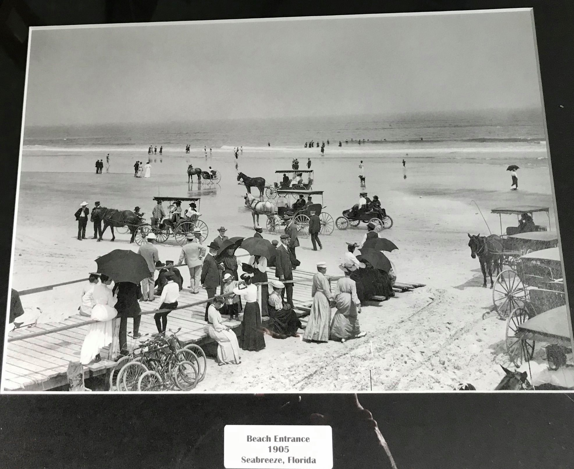 The beach in Seabreeze, Florida 1905.jpg