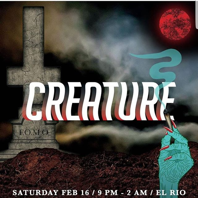 """Who is cummin out tonight for @creature_sf @elriosf ! This is def one of my favorite parties! I was given a very special code """"stigmata"""" for a reduced rate of $10 all night. Creature is a super fun and wild night of djs, art, and crazy performances put on by some of the most wild weirdos still kickin in sf! If you show up, say hi and i'll flash you my budding titties. Lol  #queernightlife"""