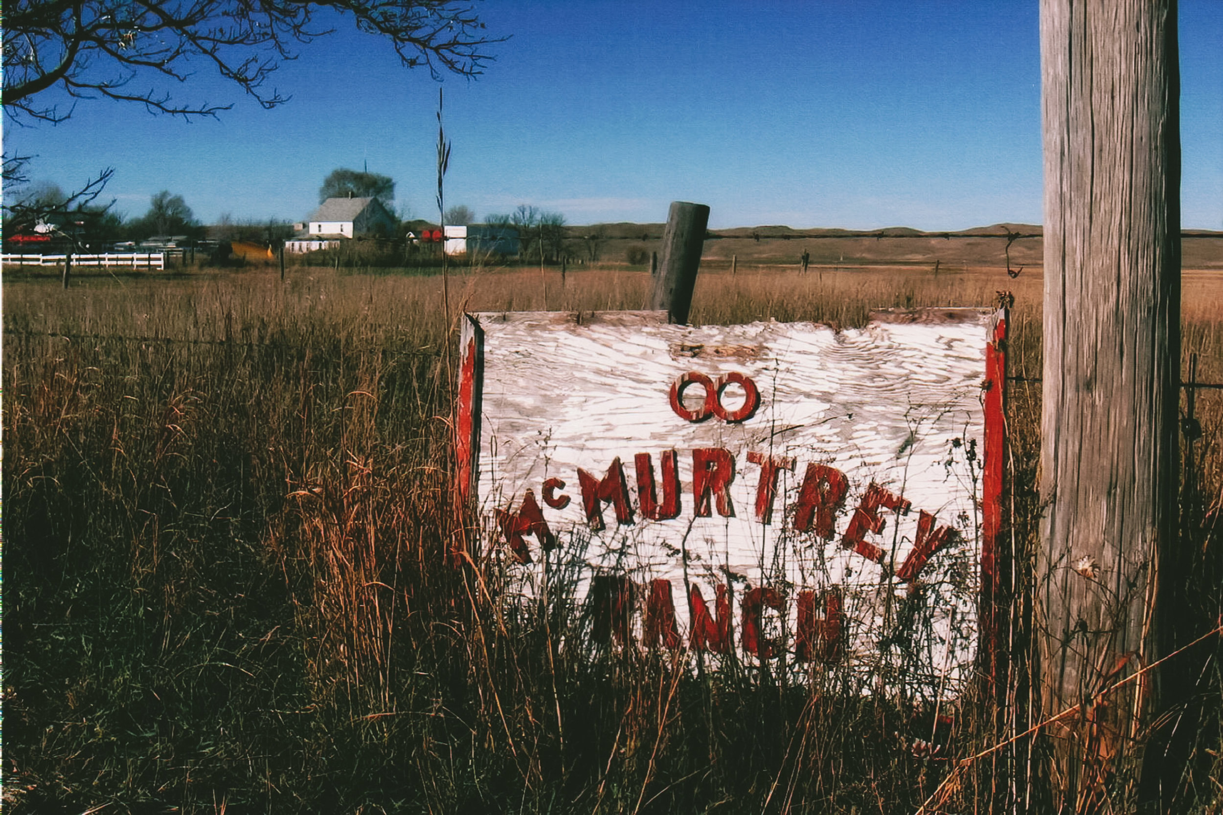 Sign at the McMurtry Ranch