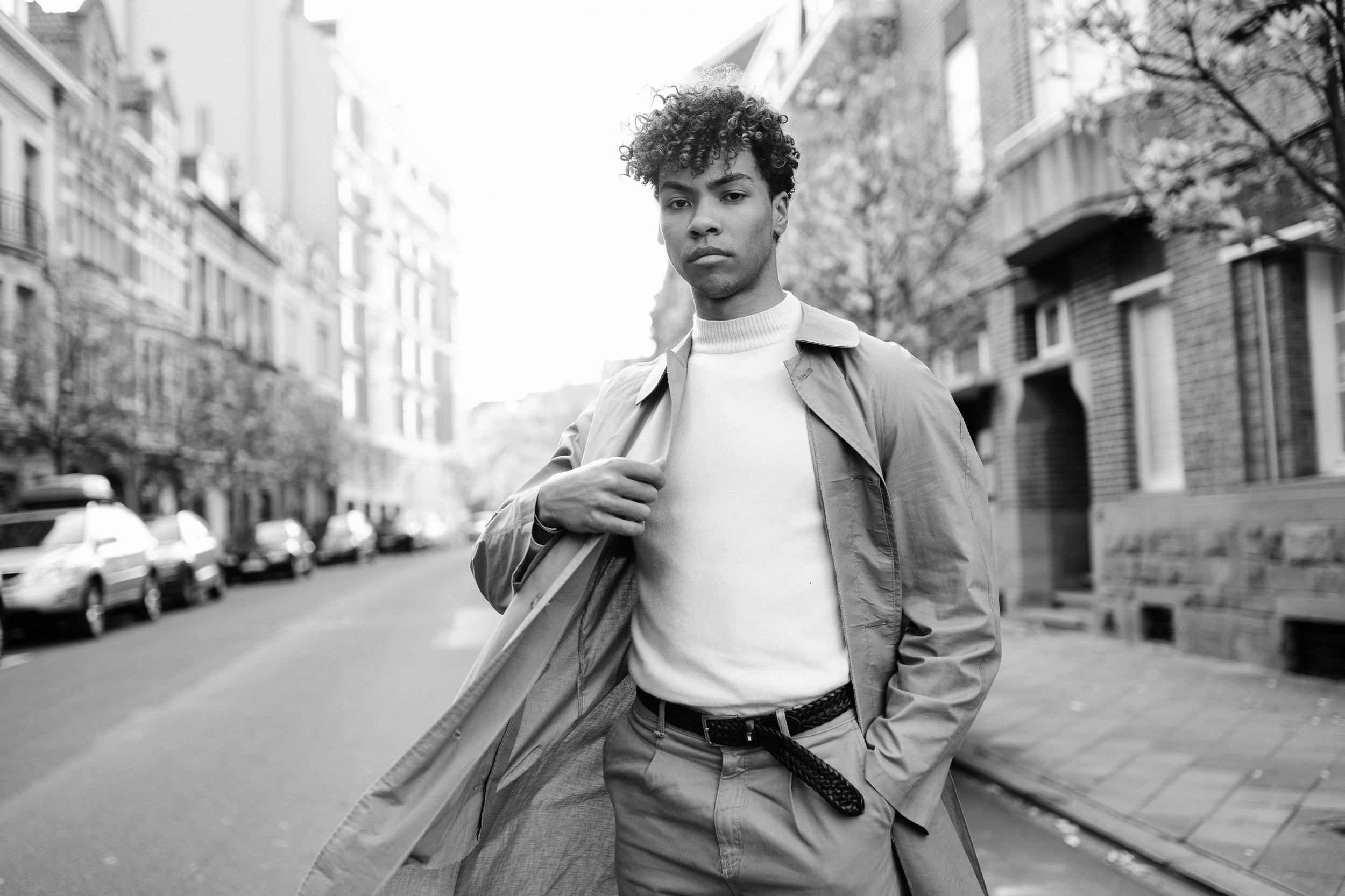 Photographies et vidéo mode homme ville Bruxelles